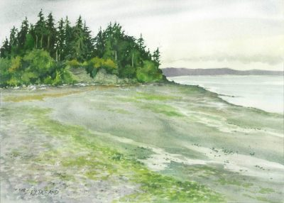 Low Tide 2 - watercolor by Peter Durand