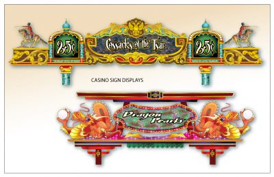 Cossacks od the Tsar and Dragon Pearls Casino Signs by Artist Peter Durand