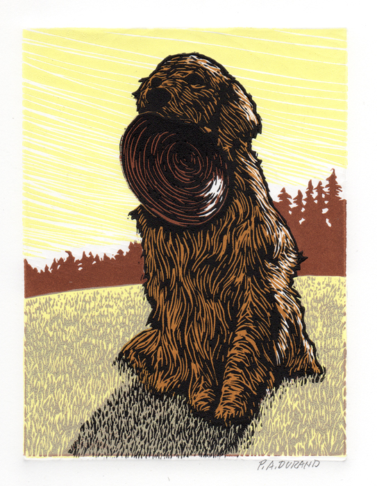 "Lino-cut ""MISSY"" By Peter A. Durand"